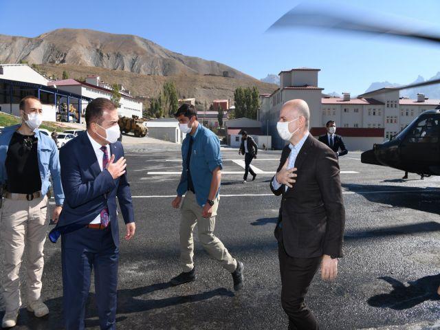 Ulaştırma ve Alt Yapı Bakanı Karaismailoğlu Hakkari'de