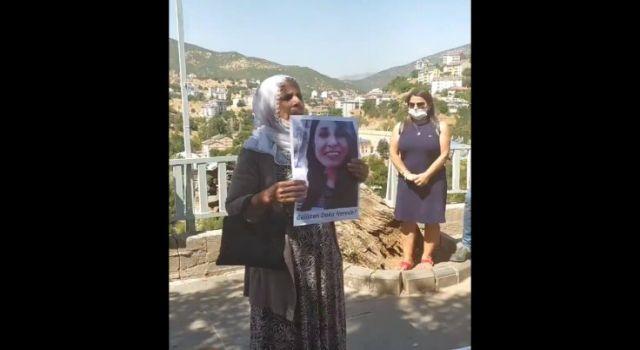 Gülistan Doku'nun annesi ve ablası Dersim'de oturma eyleminde