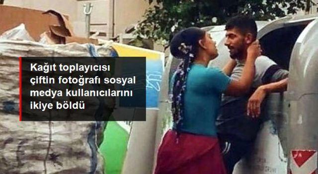 Kağıt toplayıcılarının fotoğrafı sosyal medya kullanıcılarını ikiye böldü