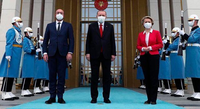 Erdoğan AB heyeti ile Ankara'da bir araya geldi