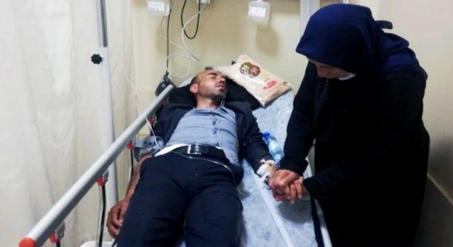 Polisin darp ederek gözaltına almaya çalıştığı Ferit Şenyaşar hastaneye kaldırıldı