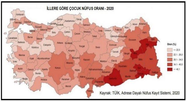 Türkiye'de çocuk nüfusu düşüyor