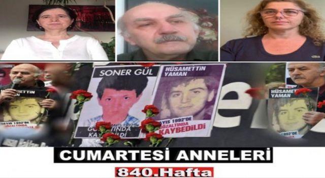 Cumartesi Anneleri Hüsamettin Yaman ve Soner Gül için adalet istedi