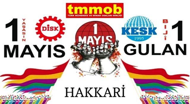 """KESK, DİSK ve TMMOB'un """"1 Mayıs"""" kutlama mesajı"""