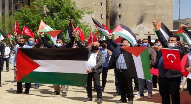 Yüksekovalılar Filistin için tek yürek oldu