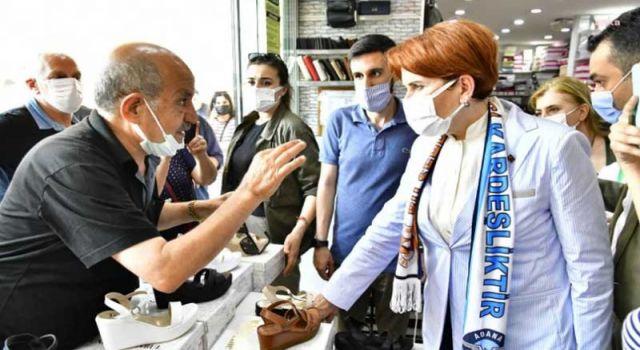 Akşener'in ziyaret ettiği esnaf isyan etti: 18 yıl AKP'ye hizmet ettim ama artık nefret ettim