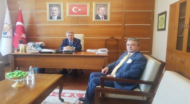 Başkan Taş Yazıcı'yı ziyaret etti