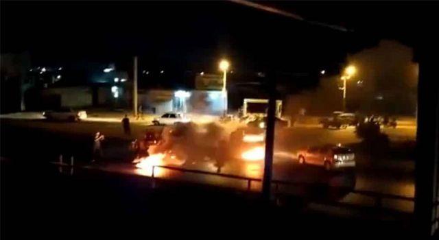 İran'da Hamaney karşıtı sloganlar: Tank ateşe verildi