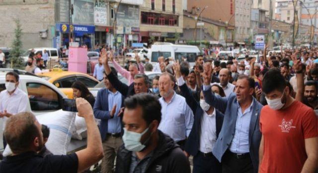 Konya'daki saldırı Yüksekova'da protesto edildi