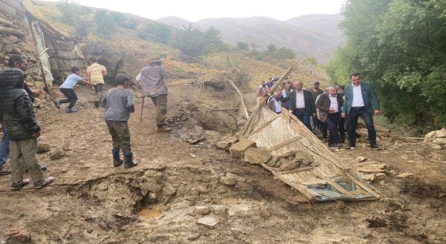 Başkan Özbek Esendere sel bölgesinde