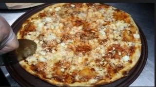 Van usulü otlu peynirli pizza