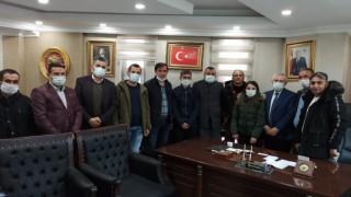 Başkan Özbek'e tebrik ziyaretleri devam ediyor