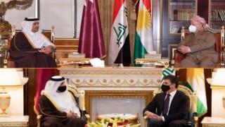 Katar Dışişleri Bakanı Kürdistanlı yetkililerle bir araya geldi
