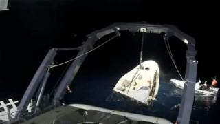 Görevlerini tamamlayan 4 astronot Dünya'ya ulaştı