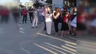 Gebze'de kadınlar 17 yaşındaki Ayşegül'e yönelik cinsel istismarı protesto etti